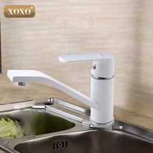 XOXO Mezclador de grúa de concha de cocina moderno, grifo de cocina caliente fría, grifo de un agujero, agua del grifo, cocina de rotación de 360 grados, 20011W