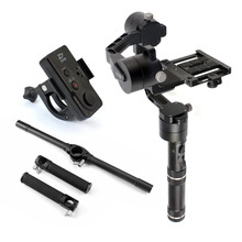Zhiyun Crane Gimbal with New Remote and Extended Handle Bar Dual Handheld Grip Bracket Kit Support 1.8kg DSLR Cameras F18164-B