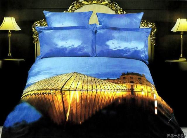 3d Louvre Bedding Set King Queen Size Louver Bedspread Duvet Cover