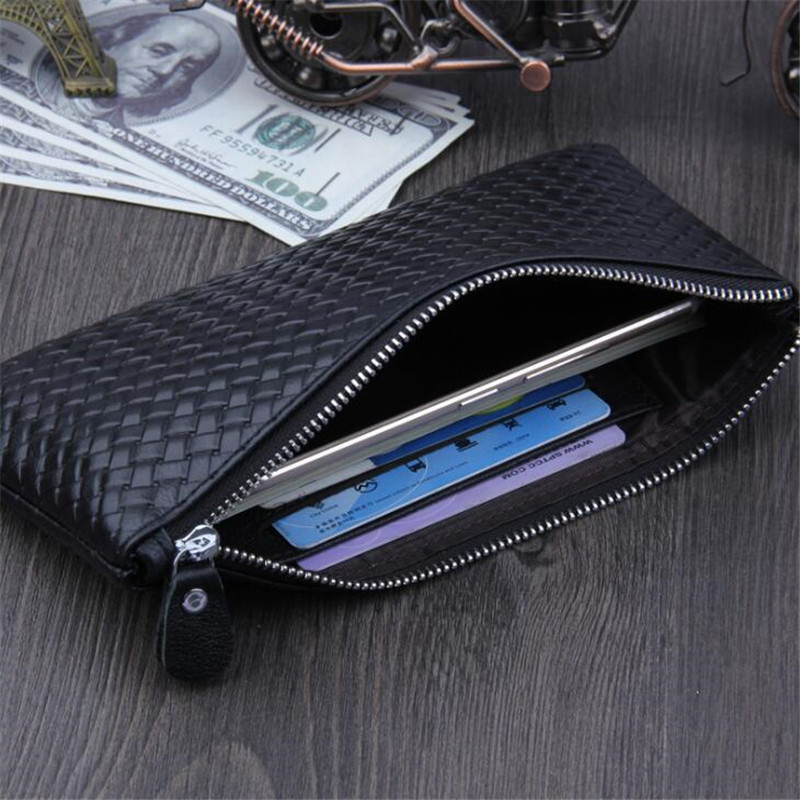 Soft Men Business Wallet Large Capacity Clutch Casual Envelope Bag Phone Holder