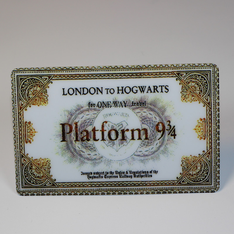 Harry Potter Hogwarts London Express Replica Train Ticket Sticker Platform Ticket