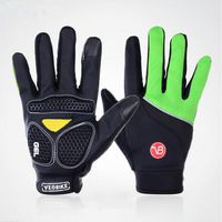 CKAHSBI Cycling Gloves Sponge Pad Long Finger Windproof Motorcycle Gloves Bicycle Mountain Bike Glove Touched Screen