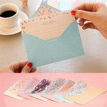 Прекрасный 8 с буквами на листе бумага+ 4 шт. конверты цветок письмо для письма бумага для рисования эскиз колодки