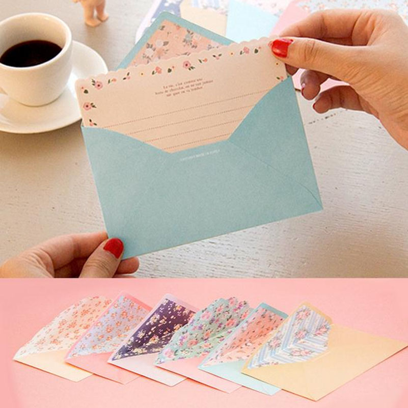 Lovely 8 Sheet Letter Paper+4pcs Envelopes Flower Letter For Writing Paper Drawing Sketch Pads