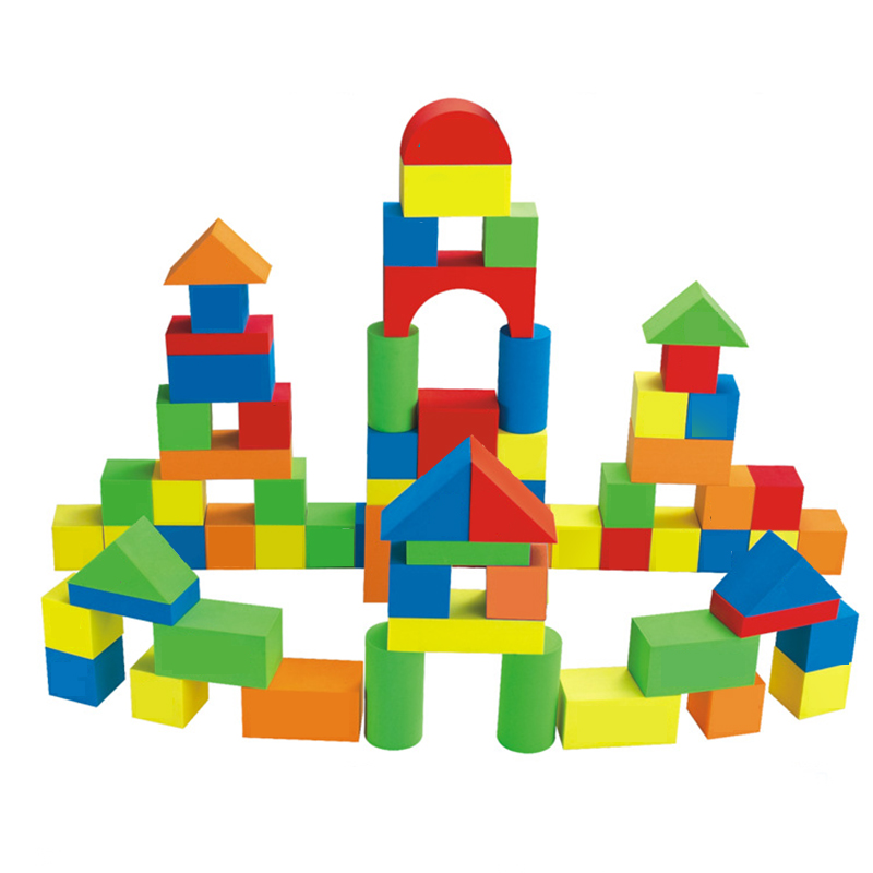 2017 42 pcs children kids colorful safe soft non toxic eva for Foam blocks for building houses