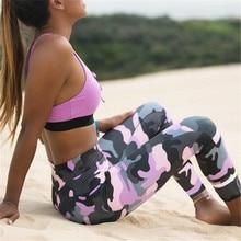 fashion printing camouflage Tighten Ventilation motion workout leggings women leggins mujer fitness legging legins pants