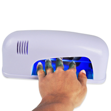 1Pcs UV Nail Gel Lamp 9W 220V Nail Tools Dryer For Curing Nails Arts With 1PCS 365nm UV Bulb + EU Plug