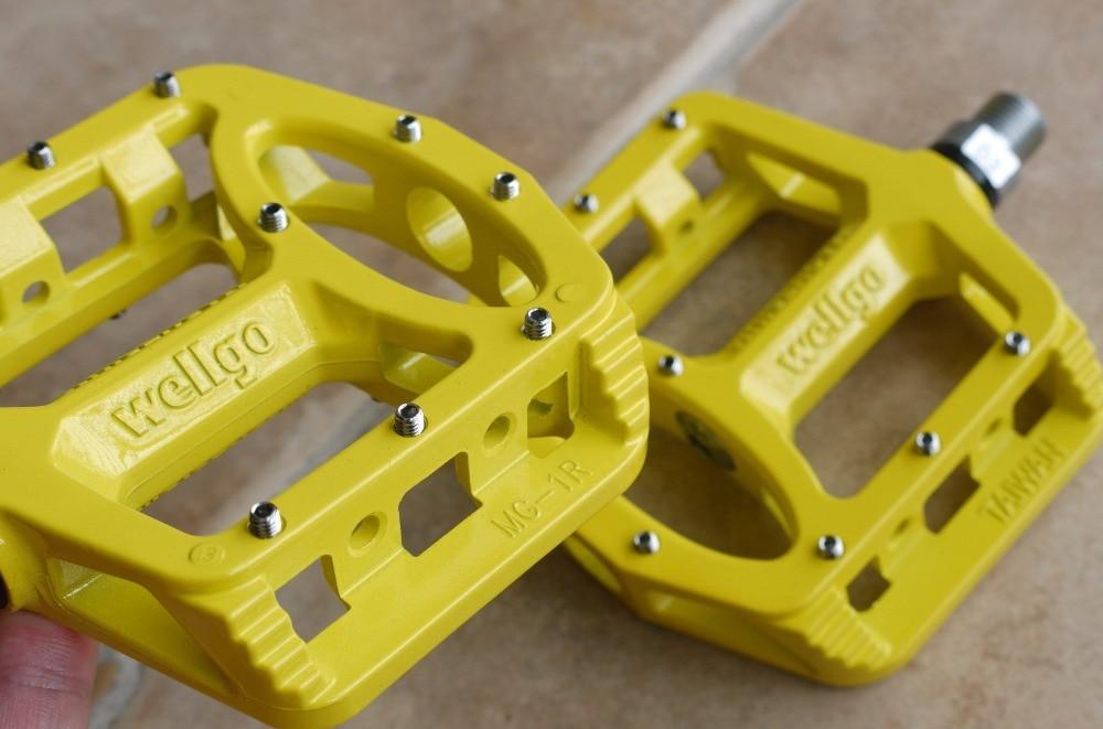 YELLOW New WELLGO MG-1 MG1 Magnesium Bike Fixed Gear Pedal MTB /& BMX PEDALS
