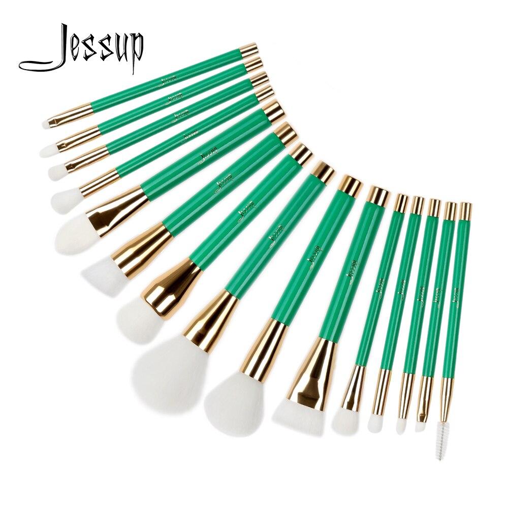 Jessup Βούρτσες 15Pcs Πράσινο / Λευκό - Μακιγιάζ - Φωτογραφία 1