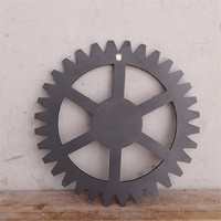 Europe Vintage Style Wooden Crafts Wheel Gear Design Retro Wall Decorations Bar Office Living Room Fashion
