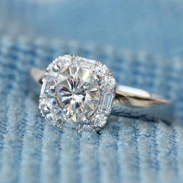14K White Gold 1CT Lab Grown Diamond Ring