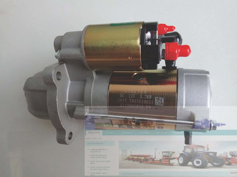 Foton Lovol 1004-4TH engine parts, the starter motor 12V, parts number:T837010021 б у foton bj1049