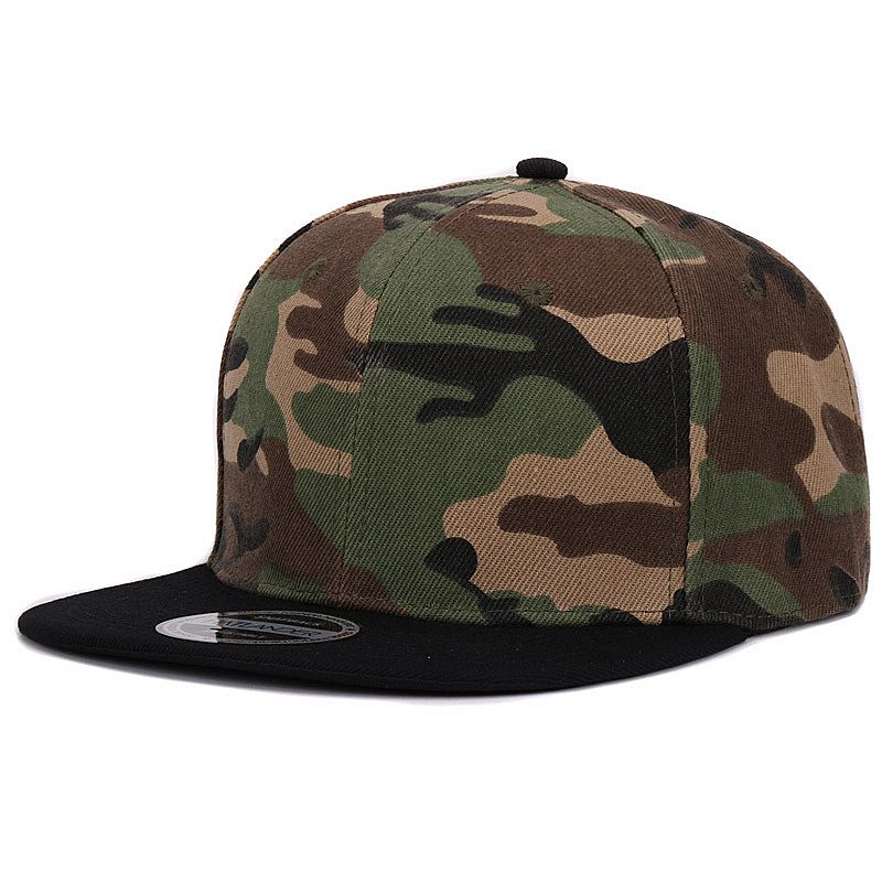 Camouflage snapback polyester cap blank flat camo baseball cap  5614dbaba57a