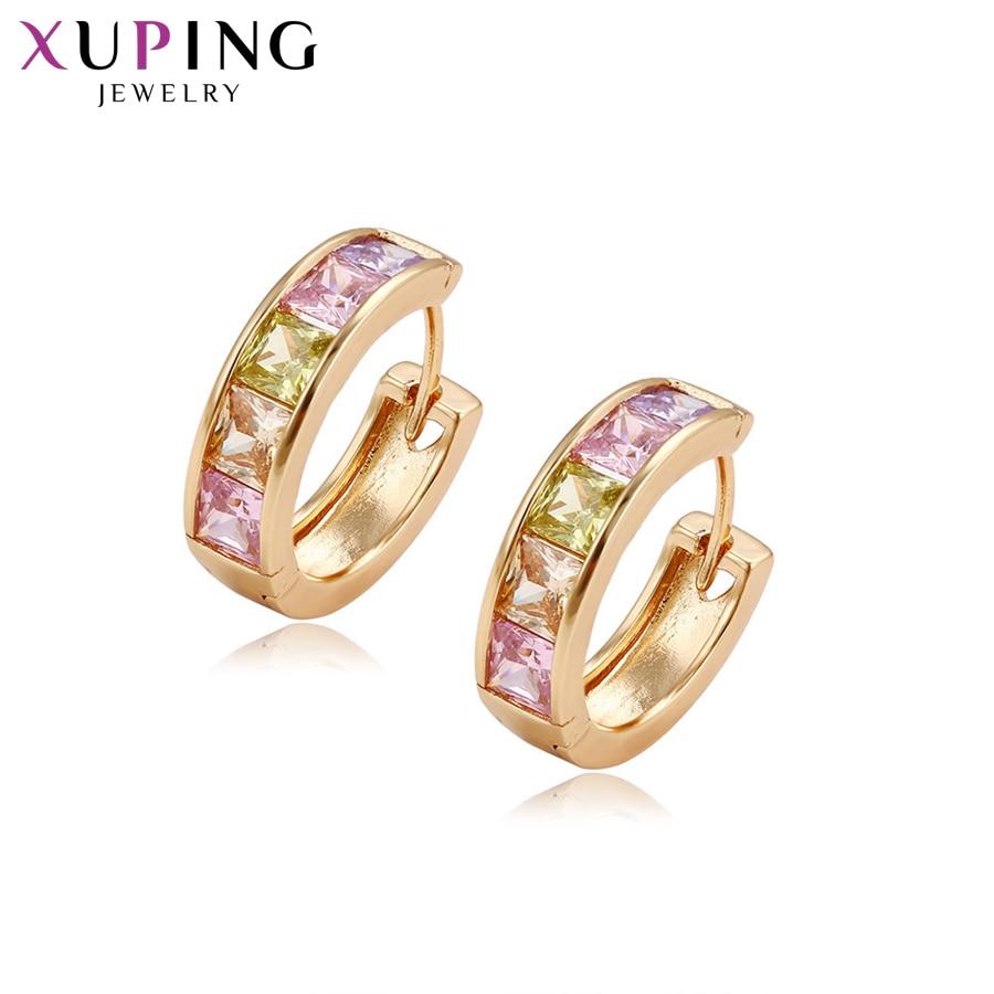 11,11 сделок Xuping модные элегантные серьги с Цвет синтез CZ для Для женщин Рождество подарок ювелирных изделий S80, 4-29255