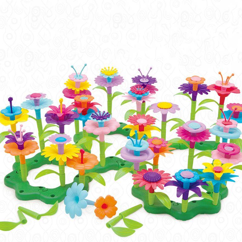 Children's Toys Set In Garden World