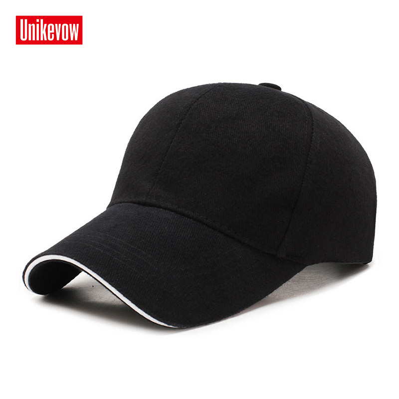 UNIKEVOW 100% cotton Simple style   baseball     cap   For Men And Women High quality Sports Leisure Hats Hip Hop Solid   baseball     cap