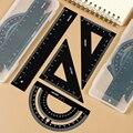 Alunos da escola primária e secundária ferramentas de redação metal régua artigos de papelaria para a escola régua da escola conjunto