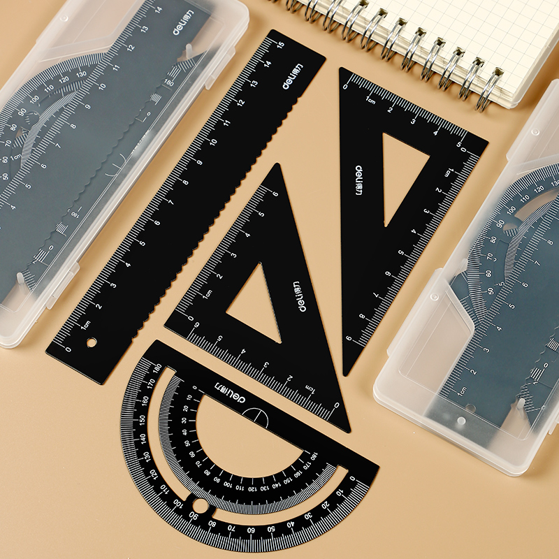 Primary And Secondary School Students Drafting Tools Metal Ruler Stationery Ruler For School Ruler School Ruler Set
