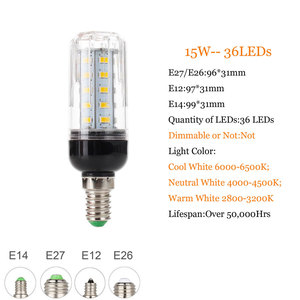 Image 5 - E27 E14 220V LED Lamp 5730 SMD LED Corn Bulb Lampada Ampoule Lighting 24 27 30 36 59 69 72 Leds Lamp Bombillas Light Bulbs