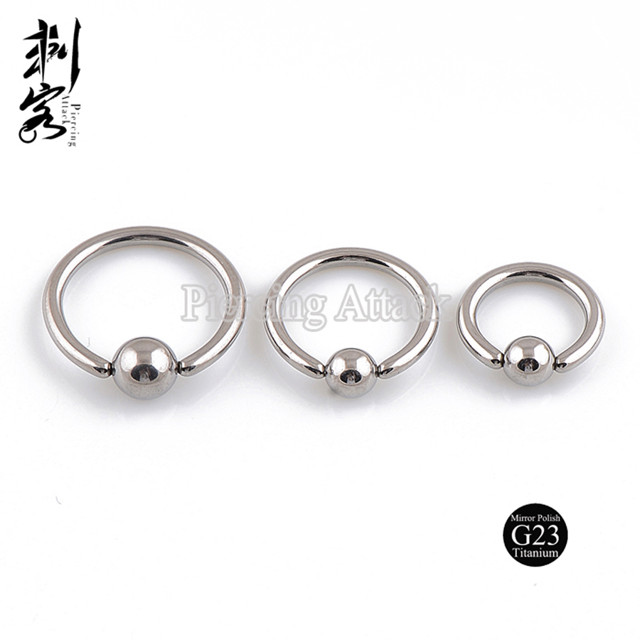 (min Order $10) Highly Polished G23 Titanium Body Jewelry 16 Gauge  Titanium Captive