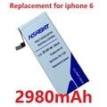 2980 mah batería de repuesto para apple iphone 6 teléfono 4.7 pulgadas iphone6 6g iphone 6 4.7''