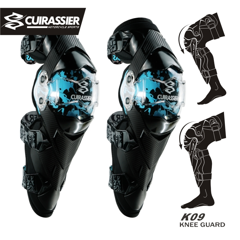 Cuirassier Motorcycle Knee Pads Motocross Kneepad Elbow Protector Guards MTB Protective Kneepad Moto Elbowpad Brace Support Gear