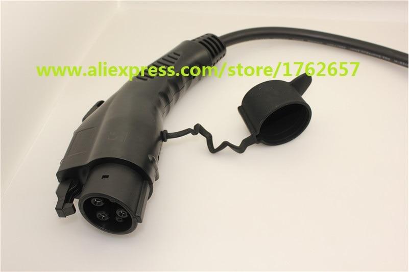 ЭВ вилка 32А по SAE J1772 Duosida Достар Тип 1 женский мужской разъем для электрический автомобиль зарядное устройство зарядное устройство переменного тока ЭВ зарядное устройство
