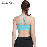 Professional Sport Bra Top Fitness Gym Women Strappy Vest Seamless Padded Yoga Bras Training Tank Top