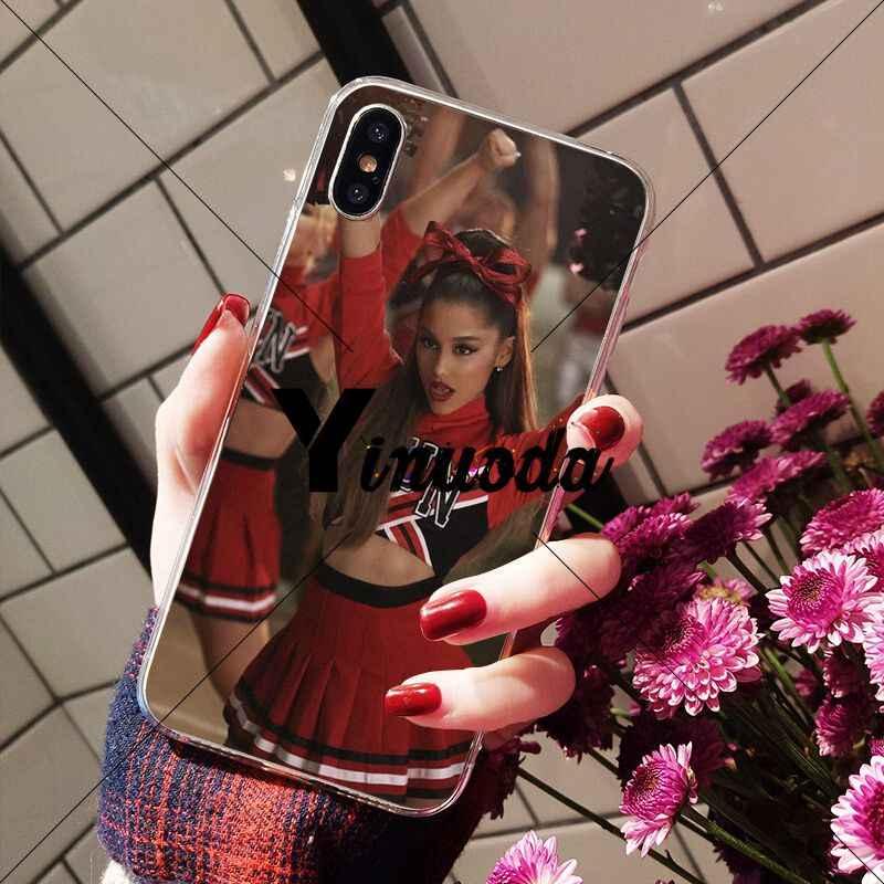 Yinuoda ขอบคุณ U, ถัดไป Ariana Grand TPU โทรศัพท์โปร่งใสสำหรับ iPhone X XS MAX 6 6 s 7 7 plus 8 8 Plus 5 5 S SE XR