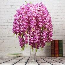 """Тайская Орхидея хлорофитум 65 см/25,5"""" Длина Искусственные цветы фрезия Bracketplant 5 стеблей для свадьбы центральный элемент"""