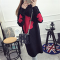 De DoveSweater and long sections 2015 Winter Women bottoming shirt sleeve head half- collar sweater long paragraph Slim thick