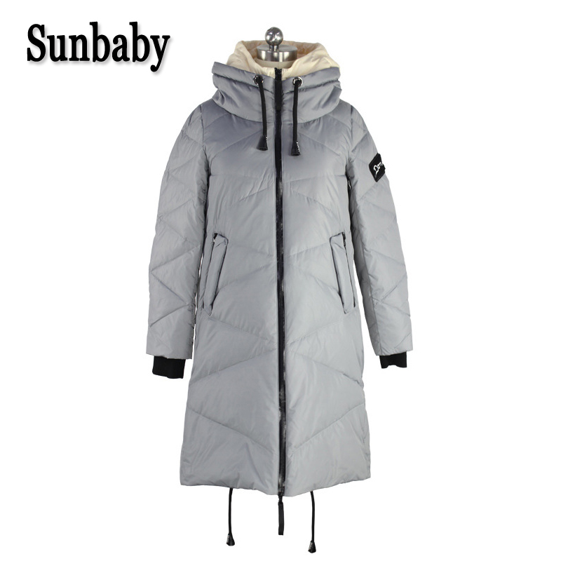 цены на Sunbaby winter maternity down coats Warm Thick Maternity Coat Parka duck down Hooded jacket for pregnant women в интернет-магазинах