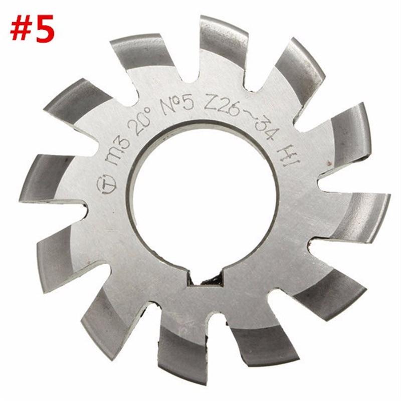 Diameter 22mm M3 20 Degree #5 Involute Gear Cutters HSS High Speed Steel Module HOT Machine Tools Accessories  цены