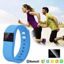 Бесплатная Доставка Браслет TW64 Bluetooth Smartband Шагомер Фитнес-Трекер Сна Спорт Браслет Для iOS Android Phone