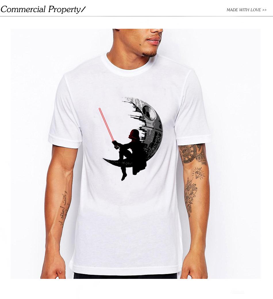 be95f6c1 Rocksir brand+Fashion Darthworks Design Men T shirt Short Sleeve ...