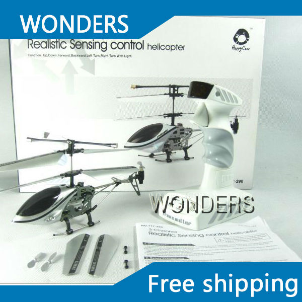 ФОТО 3CH 777-290 Realistic Sensing control mini Remote Control Helicopter RC Flashing  free shipping