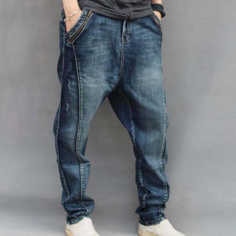 Harem Bleu Harlan Tailles Pantalon Bas Hommes De Grandes Jeans Mâle Lâche Vêtements Baggy Hop Xxxxxxl Hip Homme 6OnRfU