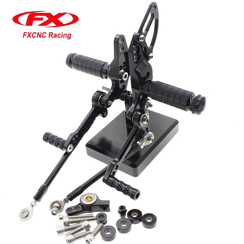 FX CNC Aluminum Adjustable Motorcycle Rearsets Rear Set Foot Pegs Pedal Footrest For DUCATI STREETFIGHTER 848 1100 Foot Rests 1set motorcycle rearset foot pegs footrest rear set for ducati 848 1098 1098s 1098r 1198 titanium wholesale d10