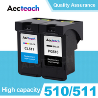 Aecteach Refill Ink Cartridge for Canon PG 510 CL 511 PG510 CL511 PG 510 PIXMA IP2700 MP230 MP240 MP250 MP260 MP270 Printer