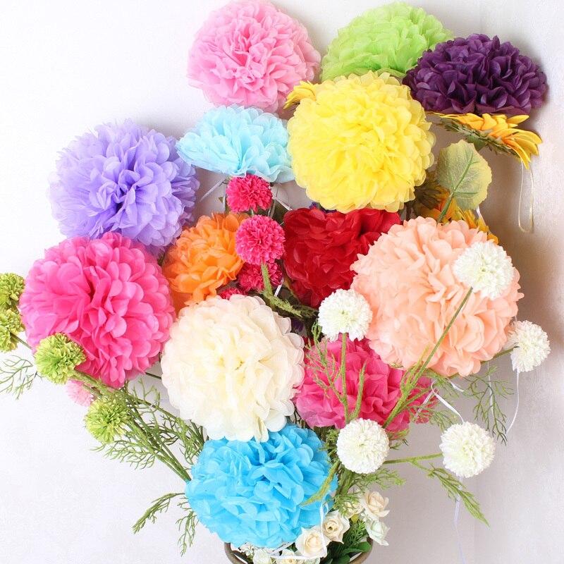ᐂ500pcs 6inch(15cm) Tissue Paper Pom Poms Flower Balls Wedding ...