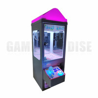 Mini Metal Case bar top doll candy catcher machine coin operated plush toys claw crane machine with LED top 5 year warranty
