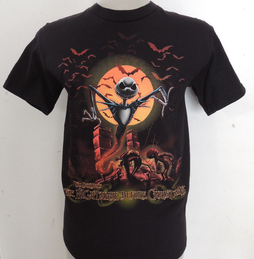 Tim Burtons The Nightmare Before Christmas T Shirt Black ...