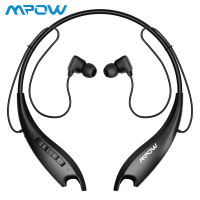 Mpow Jaws Gen 5 Sport Bluetooth Headphones 18 Hrs Playtime V5.0 Bluetooth Neckband Headphones Noise Cancelling Wireless Headset