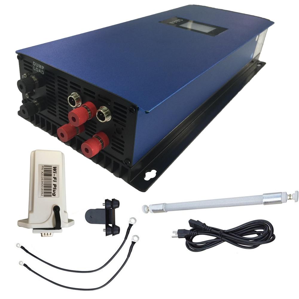 2000 W Grille Cravate Onduleur MPPT Onde sinusoïdale Pure avec Dump résistance de Charge, 45-90 V limite/wifi en option pour 3 phase AC Vent Turbines