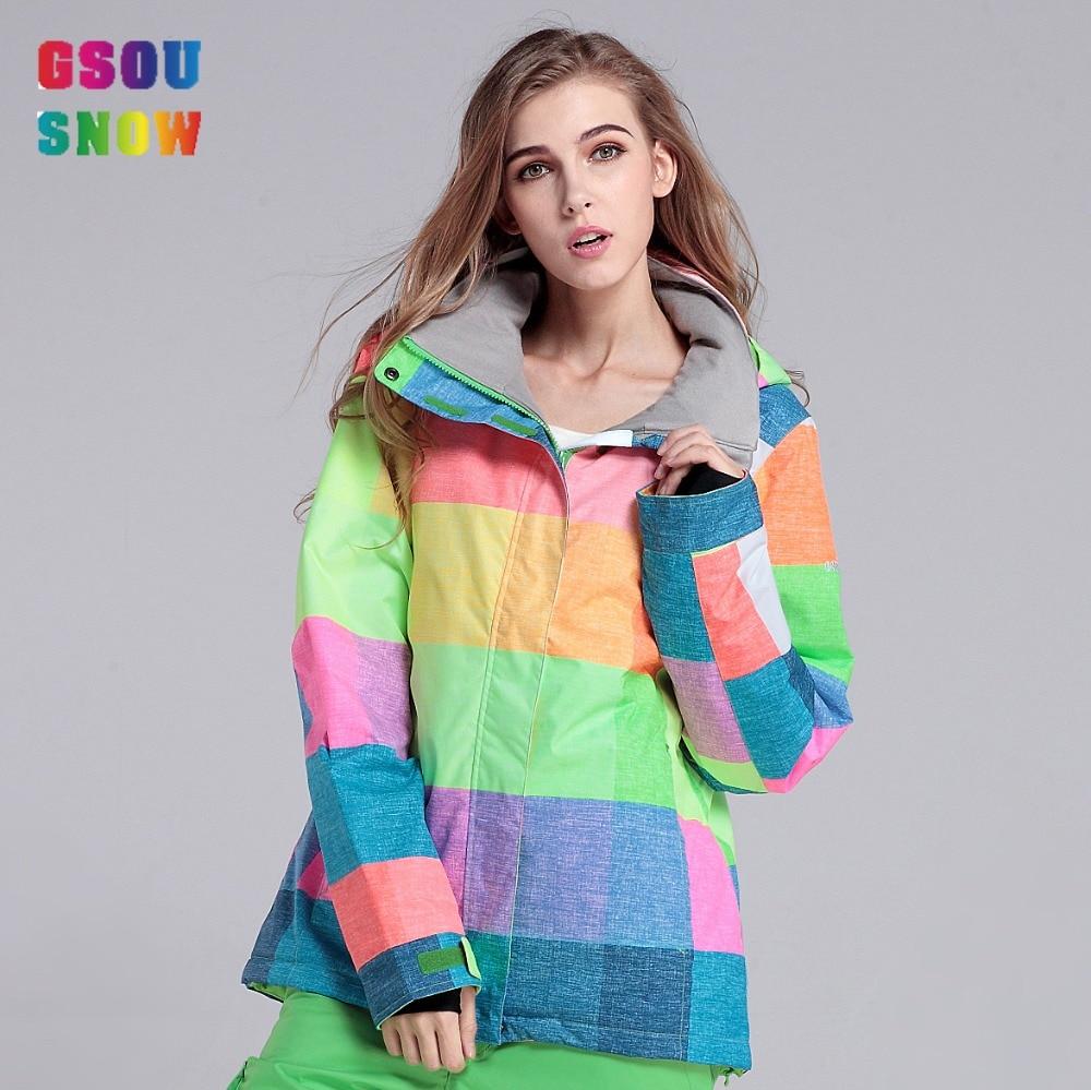 2016 font b Gsousnow b font font b ski b font snow jackets font b women