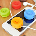 10x New Convenient Buttons Shape Cable Cord Wire Organizer Bobbin Winder Smart Wrap For Headphone