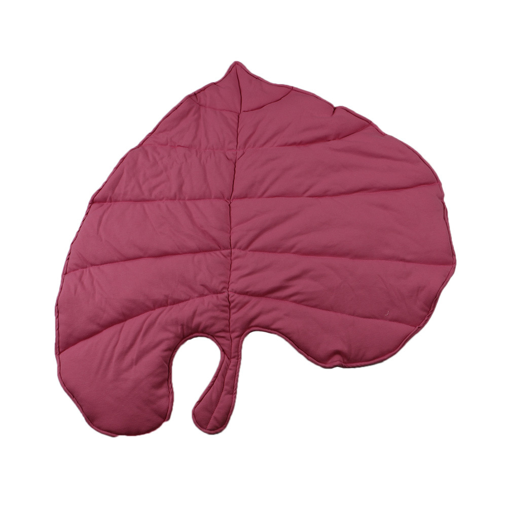 Image 3 - Ins creative cotton leaf shape Baby Blanket Play Mat Kid Crawling Carpet children s home decor baby Bedding Stroller BlanketPlay Mats   -