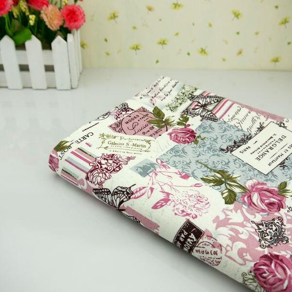 140 cm breed enkele tafel sofa doek gordijn Han katoen katoen rose ...