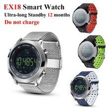 Ex18 Smart Watch Waterproof 5atm Bluetooth Smartwatch Passometer SMS Call Reminder Ultra-long Standby Swimming Sport Relojes A1