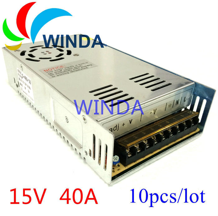 15V 40A 600W switching power supply built-in cooling DC fan security video camera centralized power supply box for cctv system computador cooling fan replacement for msi twin frozr ii r7770 hd 7770 n460 n560 gtx graphics video card fans pld08010s12hh